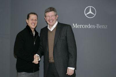 Michael Schumacher & Ross Brawn
