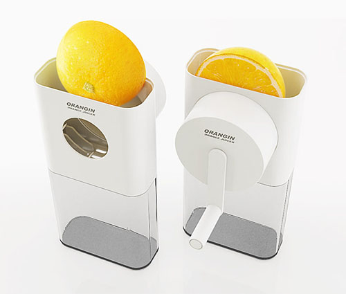 Orangin, un original exprimidor de naranjas manual
