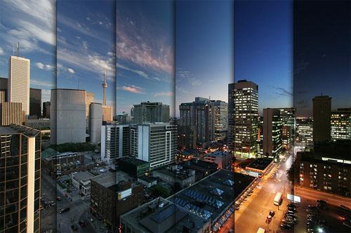 time-lapse de una gran ciudad