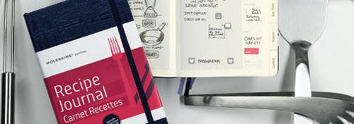 Recipe Journal, colección Passions de Moleskine