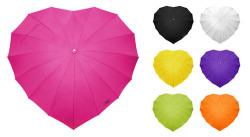 Original paraguas con forma de corazón