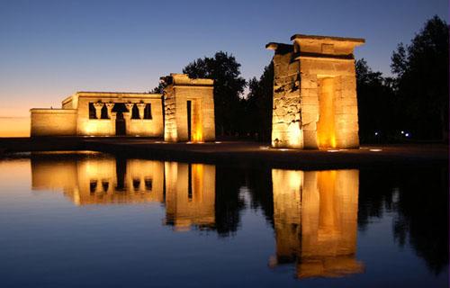El Templo de Debod en el Parque Oeste de Madrid