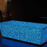 Bañera que se ilumina en la oscuridad de Lucedentro
