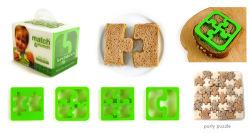 Sándwich con forma de puzle, una divertida manera de comer