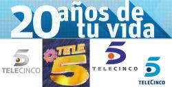 Telecinco cumple hoy 20 años de emisión