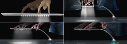 As Much As You Need, lámpara de escritorio que se controla al estilo iPhone de Hong-kue Lee