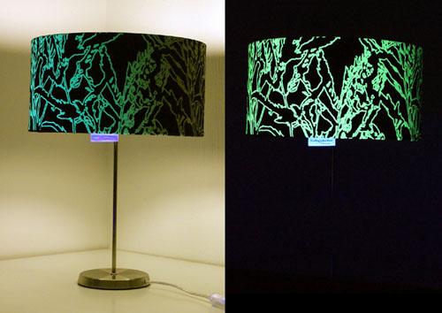 Diseños con hilo luminoso de Kathy Schicker