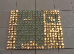 Video Stop Motion simulando pixeles con velas