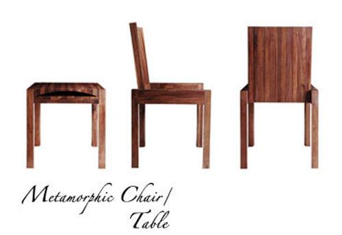 Metamorphic de reeves design una mesa que se convierte en for Silla que se convierte en mesa