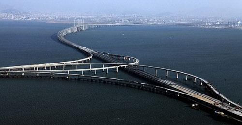 Qingdao Haiwan, el puente más grande del mundo está en China