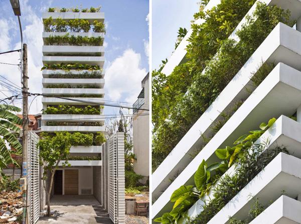 Ha House, original casa de fachadas verdes