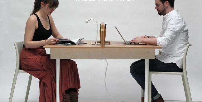 Table for Two. una original mesa con dos funciones